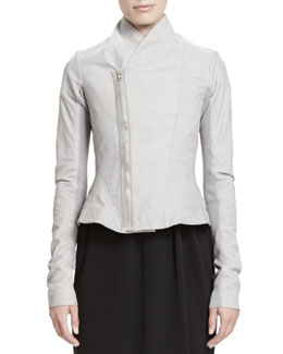 Rick Owens Princess Shawl-Collar Leather Jacket