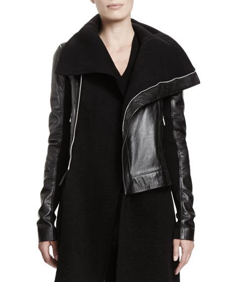 Leather Biker Jacket, Black