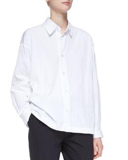Slim Shirt with Collar, White