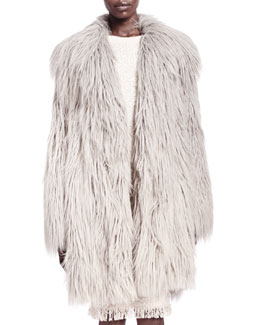 Lanvin Shaggy Faux-Fur Coat