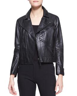 Kenzo Leather Zip Motorcycle Jacket