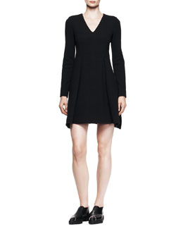 Proenza Schouler Long-Sleeve Fold-Skirt Dress