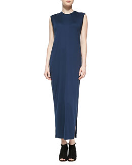 Acne Studios Bree Long Fluid Back-Drape Dress