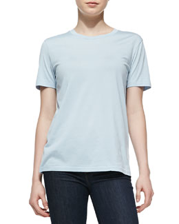 Acne Studios Vista Jersey Short-Sleeve Top, Sky Blue