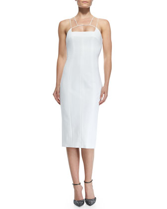 Sale alerts for Cushnie et Ochs  Power Stretch Dress with Structured Spaghetti Straps  - Covvet