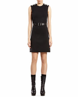Gucci Black Wool Jersey Dress