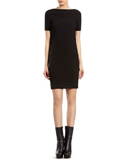 Gucci Black Knit Boat-neck Dress