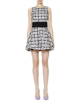 Fausto Puglisi Sleeveless Miss Liberty A-Line Dress