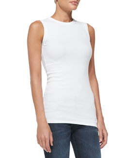Brunello Cucinelli Sleeveless Ribbed T-Shirt