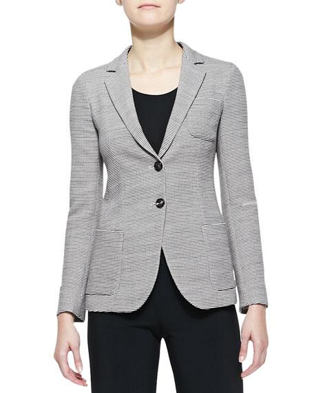 Wool Two-Button Blazer