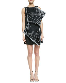 Christopher Kane Sleeveless Double-Square Layer Dress