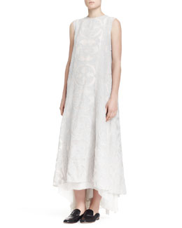 THE ROW Aina Sleeveless Crushed Jacquard Dress