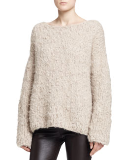 THE ROW Sky Long-Sleeve Cashmere Top