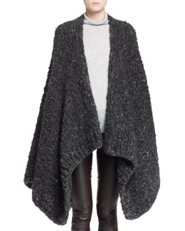 THE ROW Rashon Melange Cashmere Cape