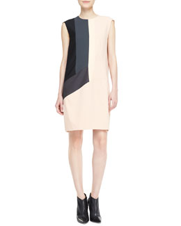 Narciso Rodriguez Sleeveless Colorblock Dress