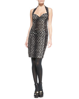 Jean Paul Gaultier Leopard-Print Bustier Dress