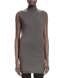 Rick Owens Sleeveless Knit High-Neck Sweater