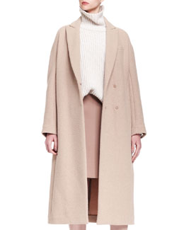 Brunello Cucinelli Long Cashmere Dropped-Shoulder Coat