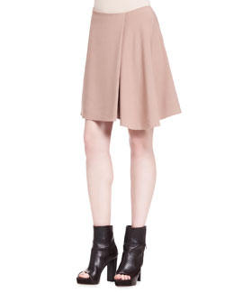 Brunello Cucinelli Wool Crepe Swing Skirt