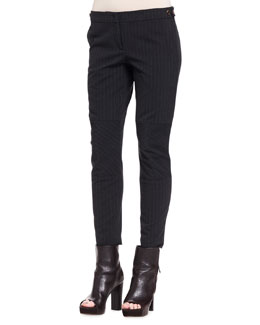 Brunello Cucinelli Paneled Pinstripe Wool Pants