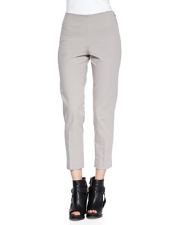 Brunello Cucinelli Stretch Cotton Ankle Pants