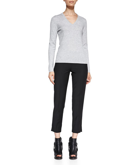 Lightweight Wool-Blend Ankle Pants