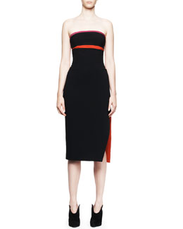 Altuzarra Strapless Contrast-Detail Dress