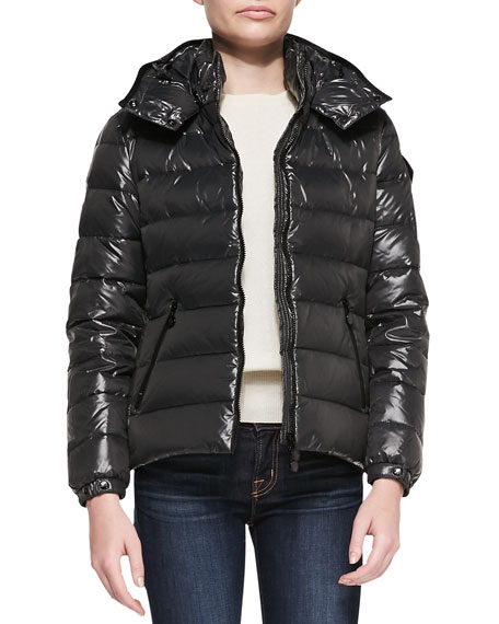 Hooded Puffer Jacket, Charcoal
