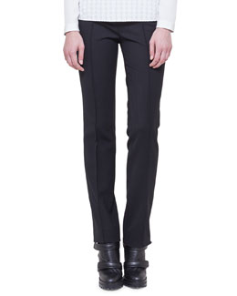Francoise Twill Pants, Black