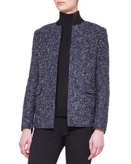 Akris punto Collarless Boucle Jacket