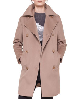Akris punto Double-Breasted Martingale Coat