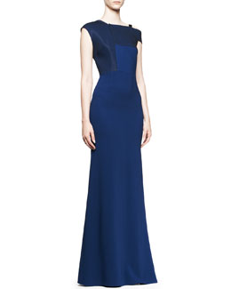 Roland Mouret Oxidus One-Strap Godet Gown