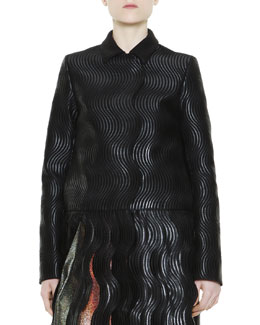 Marco de Vincenzo Wavy Carwash-Bottom Jacket