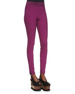 Zip Ankle Leggings, Hyacinth