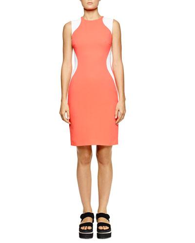 Miracle Sleeveless Colorblock Dress, Bubble Gum