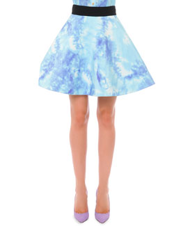 Tie Dye Pouff Skirt