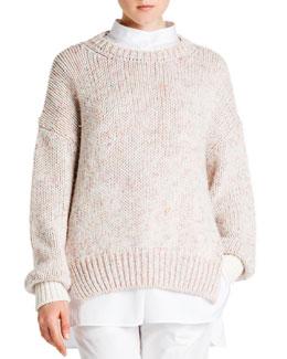 Cashmere Melange Crew Sweater