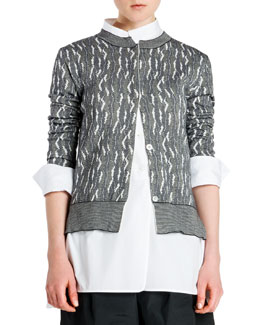 Cashmere Abstract Intarsia Cardigan