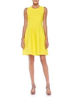 Sleeveless Seamed A-Line Dress