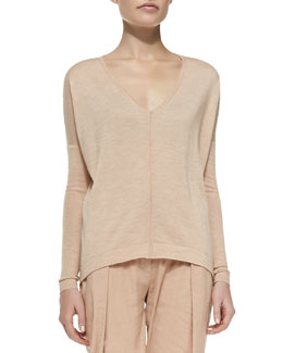 Cashmere Easy Top w/ Center Seam