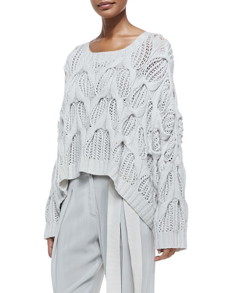 new styles 5aad1 53f5f Cashmere Oversized Boat-Neck Sweater