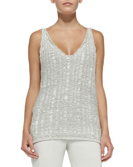 Cashmere Sleeveless V-Neck Tunic