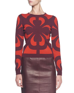 Graphic Jacquard Knit Top