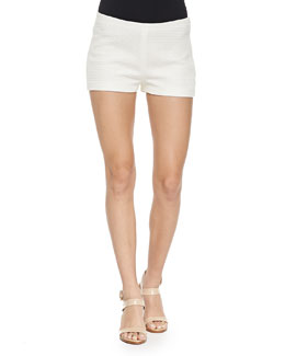 Woven Side-Zip Shorts