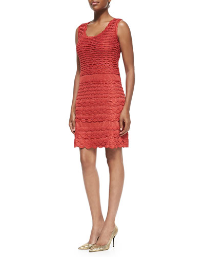 Solid Fish Scale Tank Dress