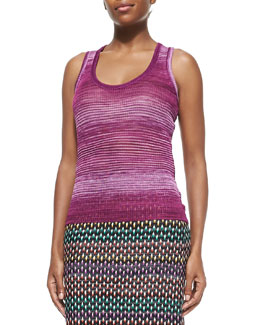 Missoni Striped Space-Dyed Tank & Textured Pull-On Maxi Skirt