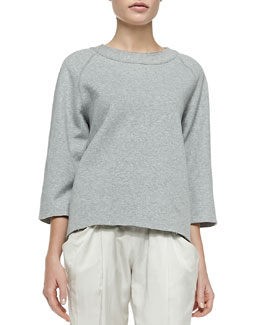 3/4-Sleeve Easy Pullover