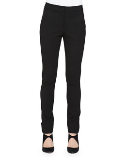 Cuffed Jersey Pants, Black