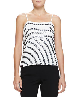 Square-Embellished Camisole Top