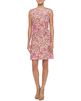 Etro Peony Matelasse Sheath Dress